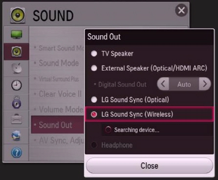 LG Help Library: Pairing Bluetooth audio devices to TV ...