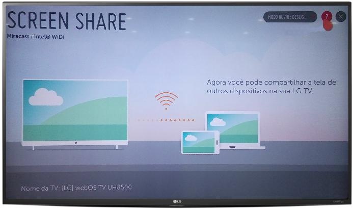 LG Ajuda e Solução de Problema: Espelhar a tela do