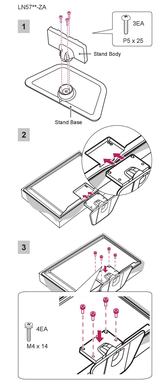 lg faq s sie wollen den standfuss des tv ger tes zusammensetzen lg germany. Black Bedroom Furniture Sets. Home Design Ideas