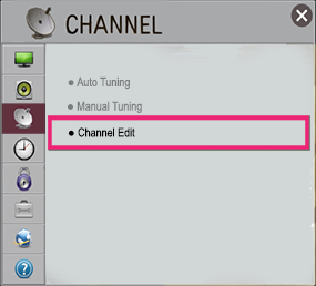 how to delete a tv channel lg 6550
