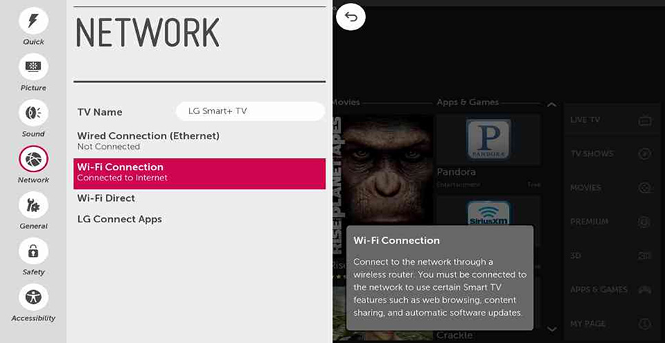 Setting Up Your Wireless Network - webOS 1 0 | LG USA Support