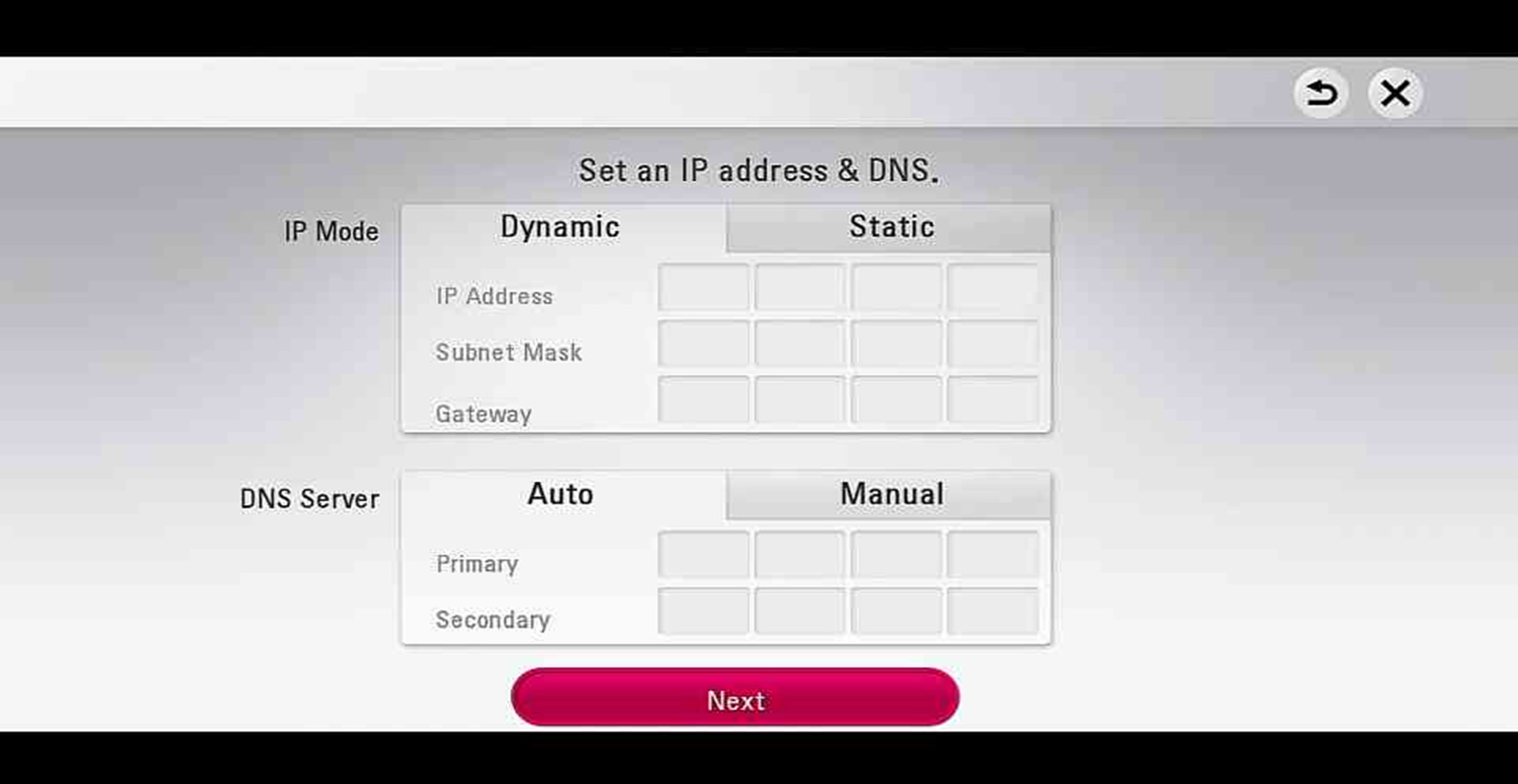 Setting Up Your Wireless Network - Blu-ray | LG USA Support