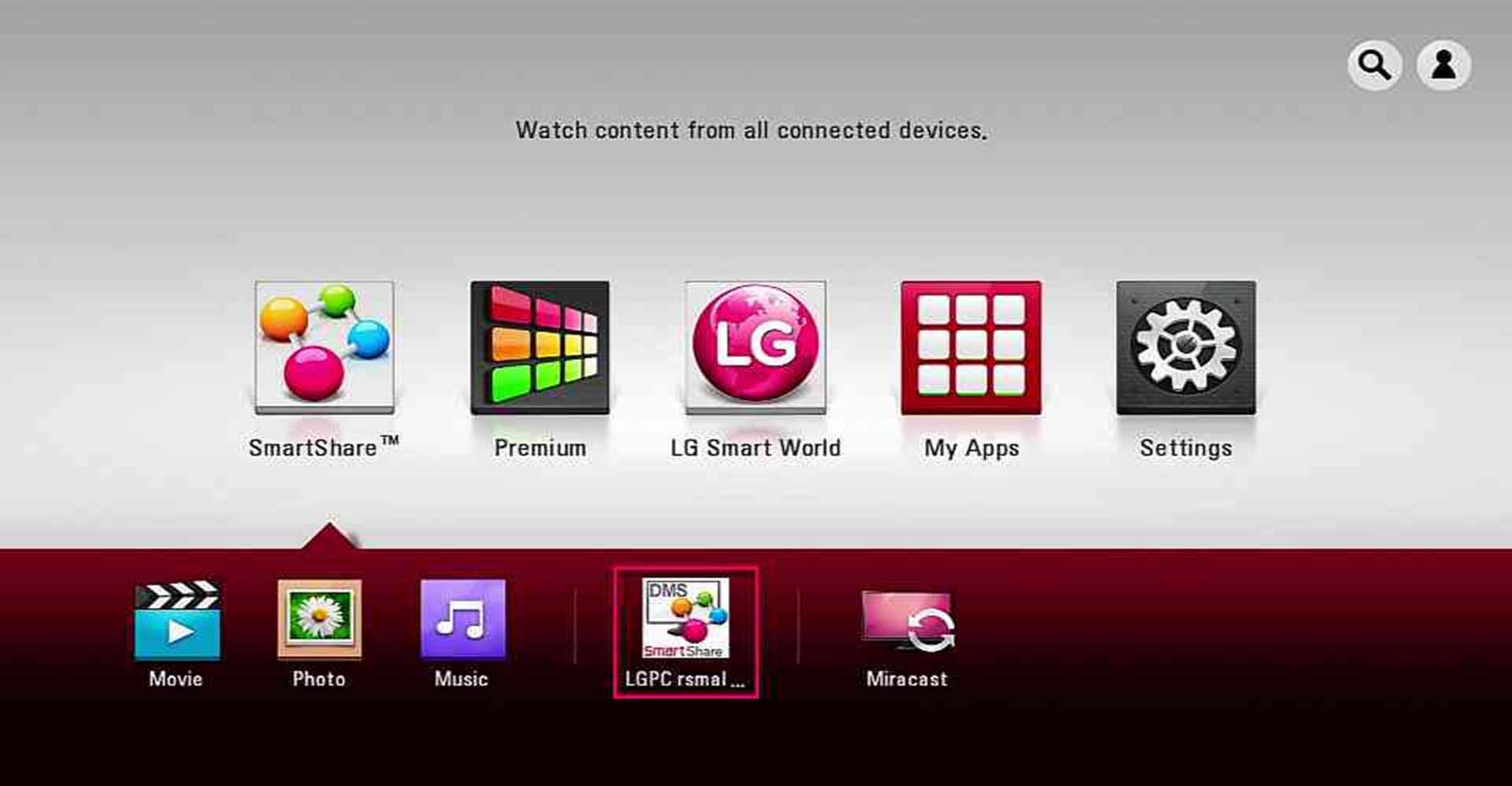 Lg help library: smart share for windows: installation, setup, and.