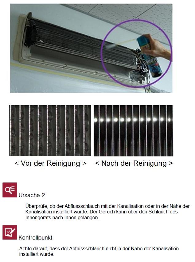 lg faq s warum riecht meine klimaanlage nach schimmel oder nach der kanalisation lg germany. Black Bedroom Furniture Sets. Home Design Ideas