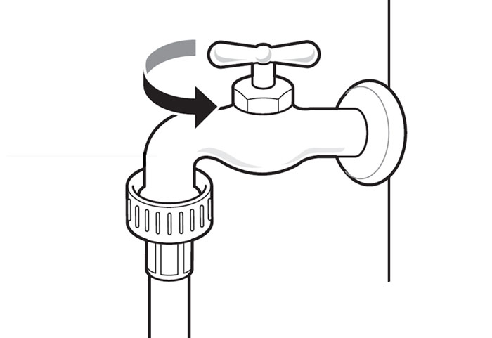 Turn off home drain