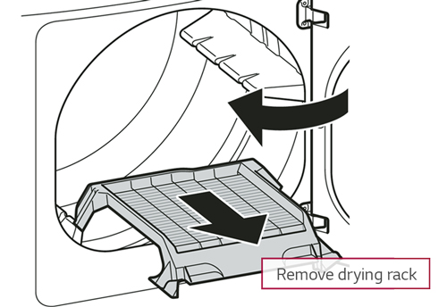 let unit cool and remove drying rack