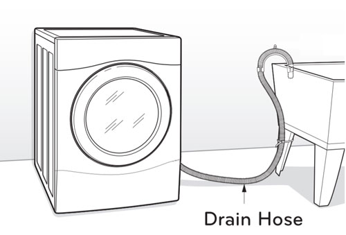 Drain hose with U pattern