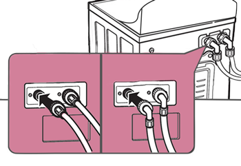 check inlet hose area