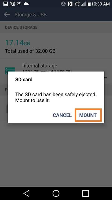 LG Help Library: Storing data on external SD Card | LG Canada
