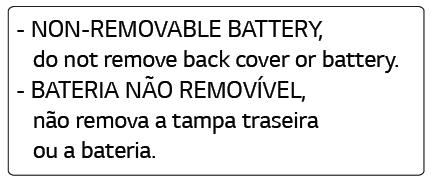 Tag de bateria não removível