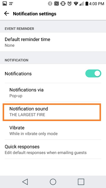 LG Help Library: Sound notification – Calendar App Events | LG Canada