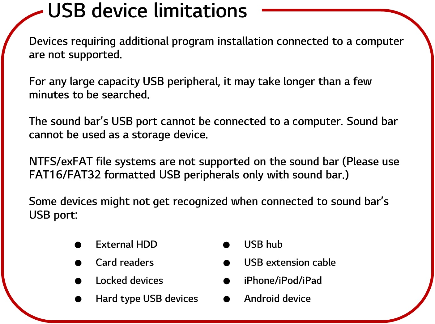 LG Help Library: USB peripheral not recognized | LG Canada