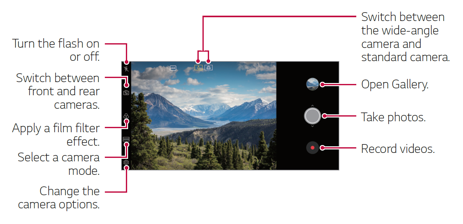 LG V35 ThinQ - Camera Overview and Settings | LG USA Support