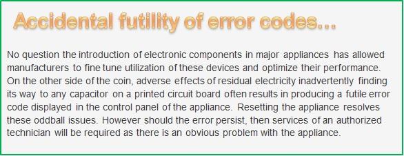 "LG Help Library: Electric Range: ""F-3"" error code"