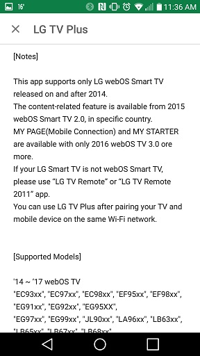 LG Help Library: Quick remote controller application | LG Canada