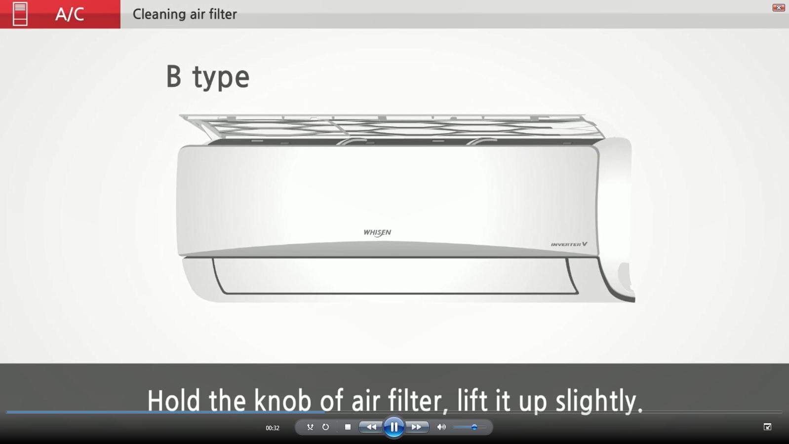 LG Video Tutorials: Cleaning Air Filter | LG Saudi Arabia