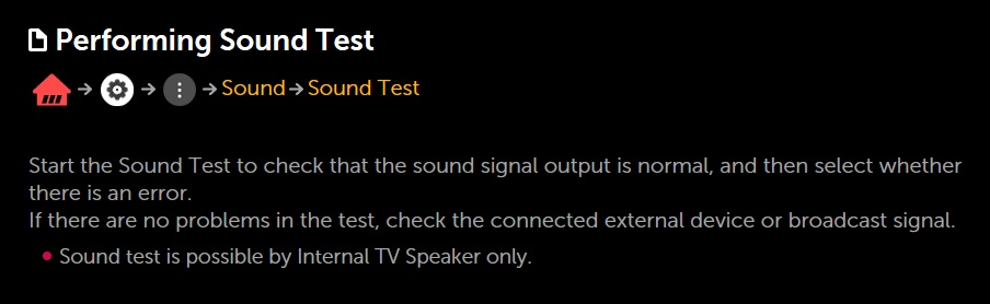 LG Help Library: Poor Sound Quality – Sound Test | LG Canada