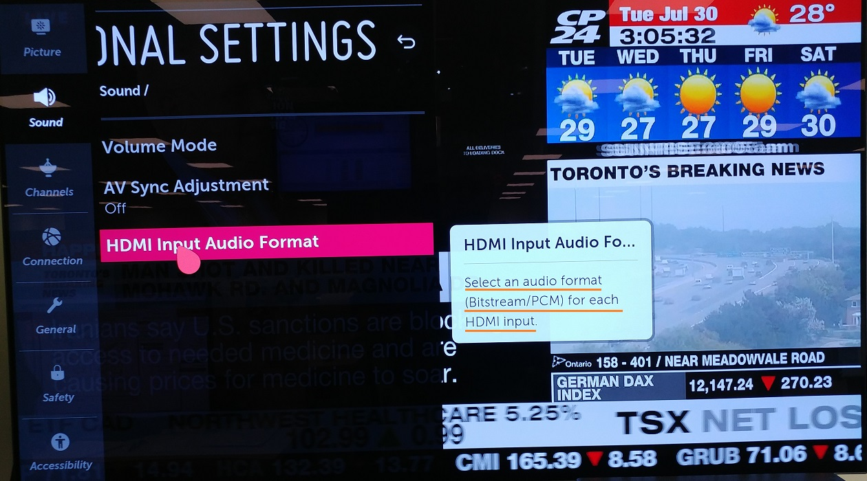 LG Help Library: No sound from soundbar connected to TV via