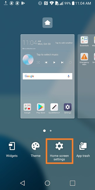 LG Help Library: Changing Home Screen wallpaper on Android