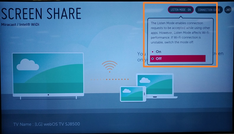 Help library: Screen Share pop-up message | LG Canada
