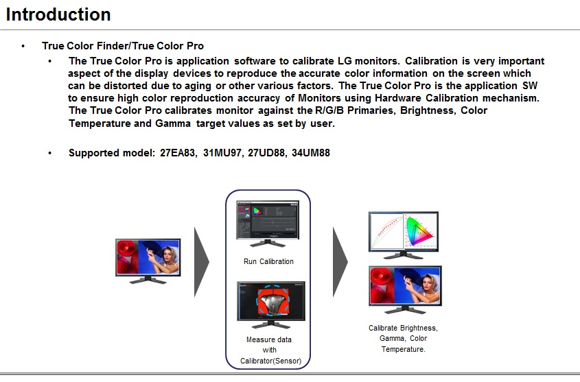 LG Help Library: Monitor – True Color Pro Calibration