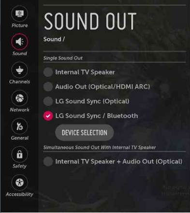 LG Help Library: Pairing Bluetooth audio devices to TV | LG