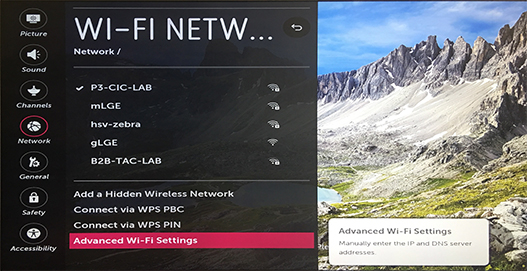 Manual DNS Settings - webOS | LG USA Support