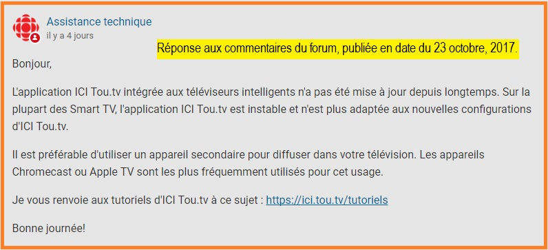 LG Help Library: TOU TV – Service relocation on NetCast TV