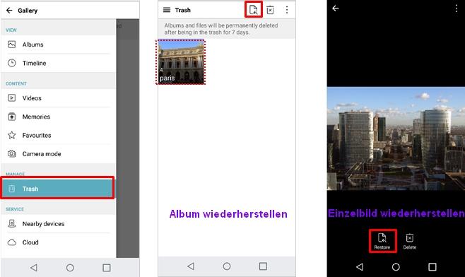 LG FAQ`s: Galerie: Wiederherstellung gelöschter Fotos oder ...