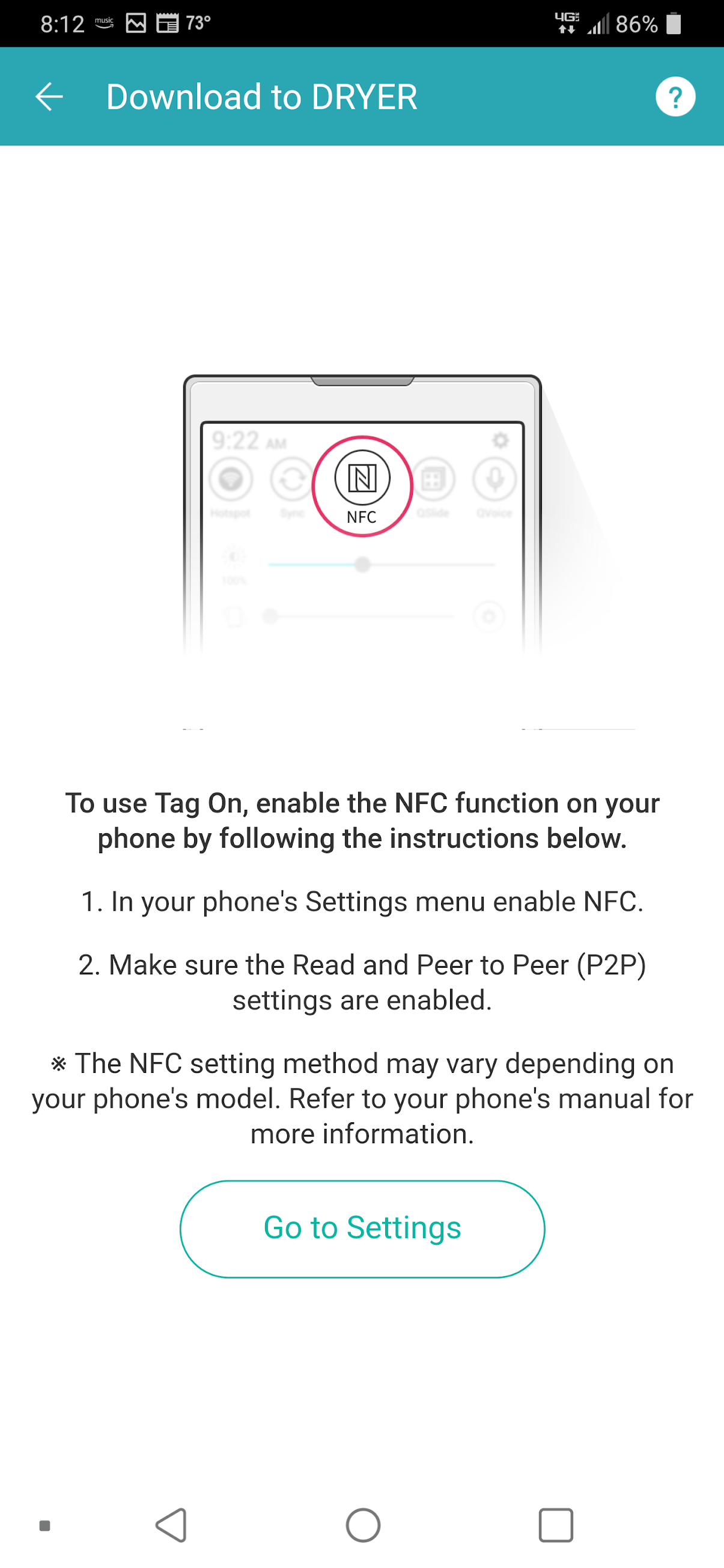 How to Download Cycles to your Dryer using NFC - SmartThinQ