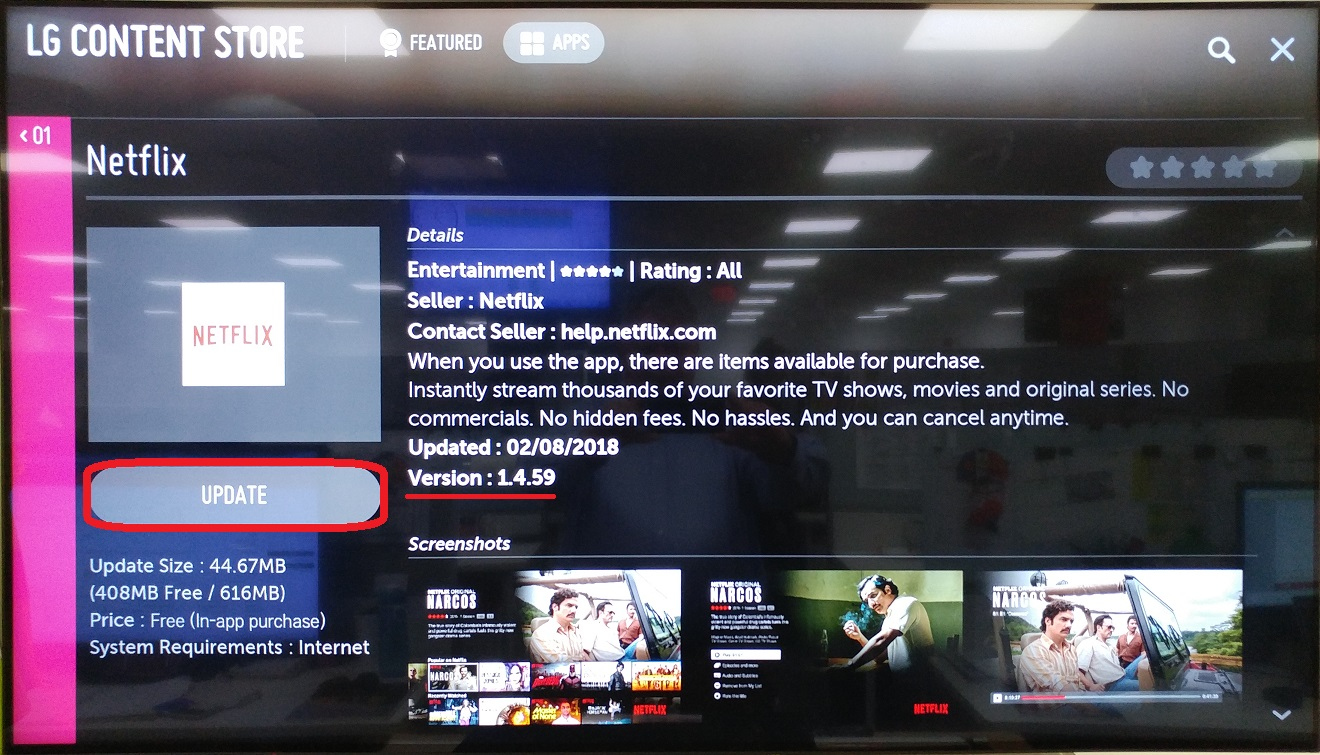 LG Help Library: Netflix content won't play after TV