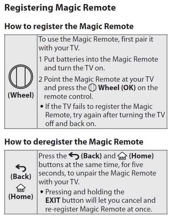 LG Help Library: magic motion remote control pairing guide