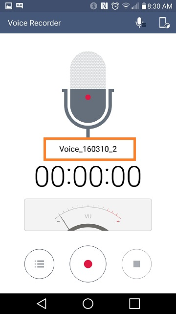 LG Help Library: Voice Recorder App – File storage   LG Canada