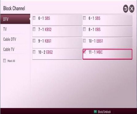 LG How-to & Tips: How to lock certain channels and external input