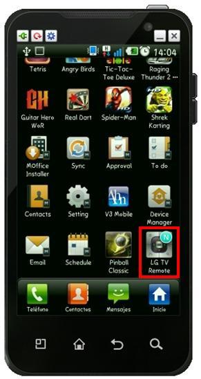 TV Contro remoto desde LG Smartphone Android