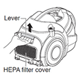 remove the hepa filter cover