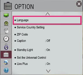 LG TV Option Menu Settings | LG USA Support