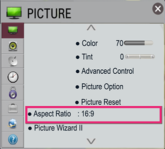 Aspect Ration background