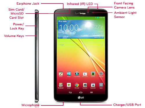 LG G PAD 8 3 LTE VK810 TABLET OVERVIEW   LG USA Support