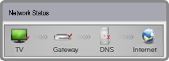 Network Status Red on DNS