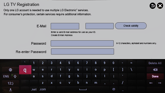 LG Help Library: LG Smart TV Apps Store Account Management | LG U A E