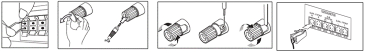 Tipos de conectores das caixas acústicas