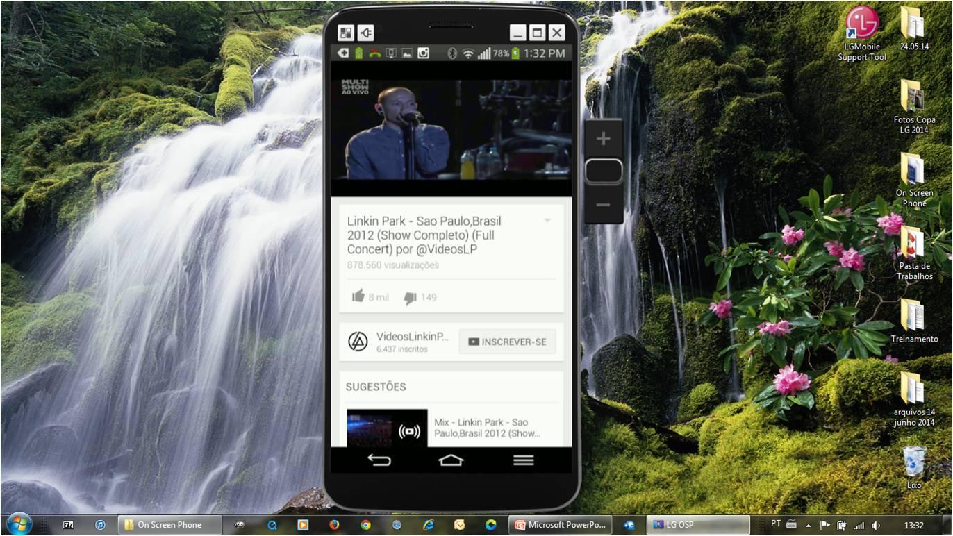 Assista videos do seu celular na tela do seu computador usando a função On Screen Phone