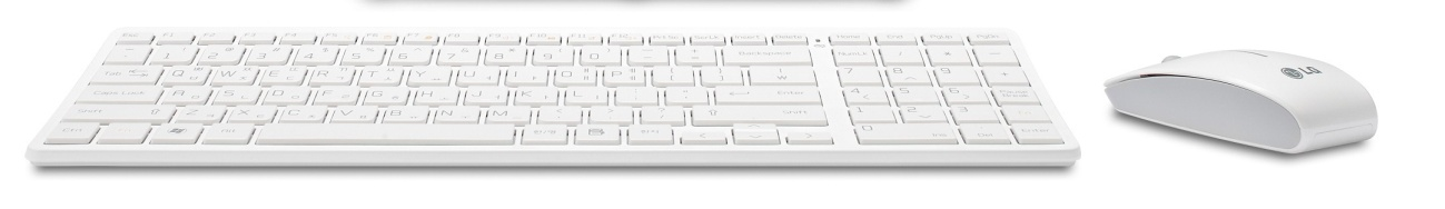 Ilustração do teclado e o mouse sem fio