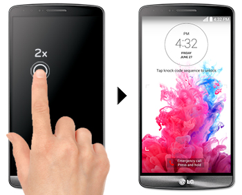 LG Help Library: LG G3 D852 Knock ON™ & Knock Code™ | LG Canada