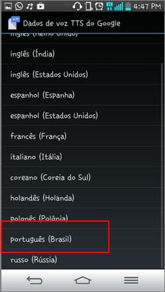 Selecione o idioma que está em processo de download e Delete o pacote em processo de download .
