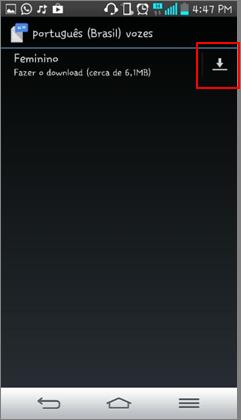 O download irá parar e a notificação desaparecerá