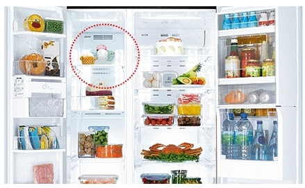 Para sorvete com alto nível de gordura do leite, ajustar a temperatura do freezer entre -20℃ e -23℃, e armazenar em uma prateleira perto da saída de ar existente dentro do freezer