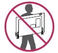 Cuando sostenga el televisor, la pantalla debe quedar alejada de usted para evitar algún daño