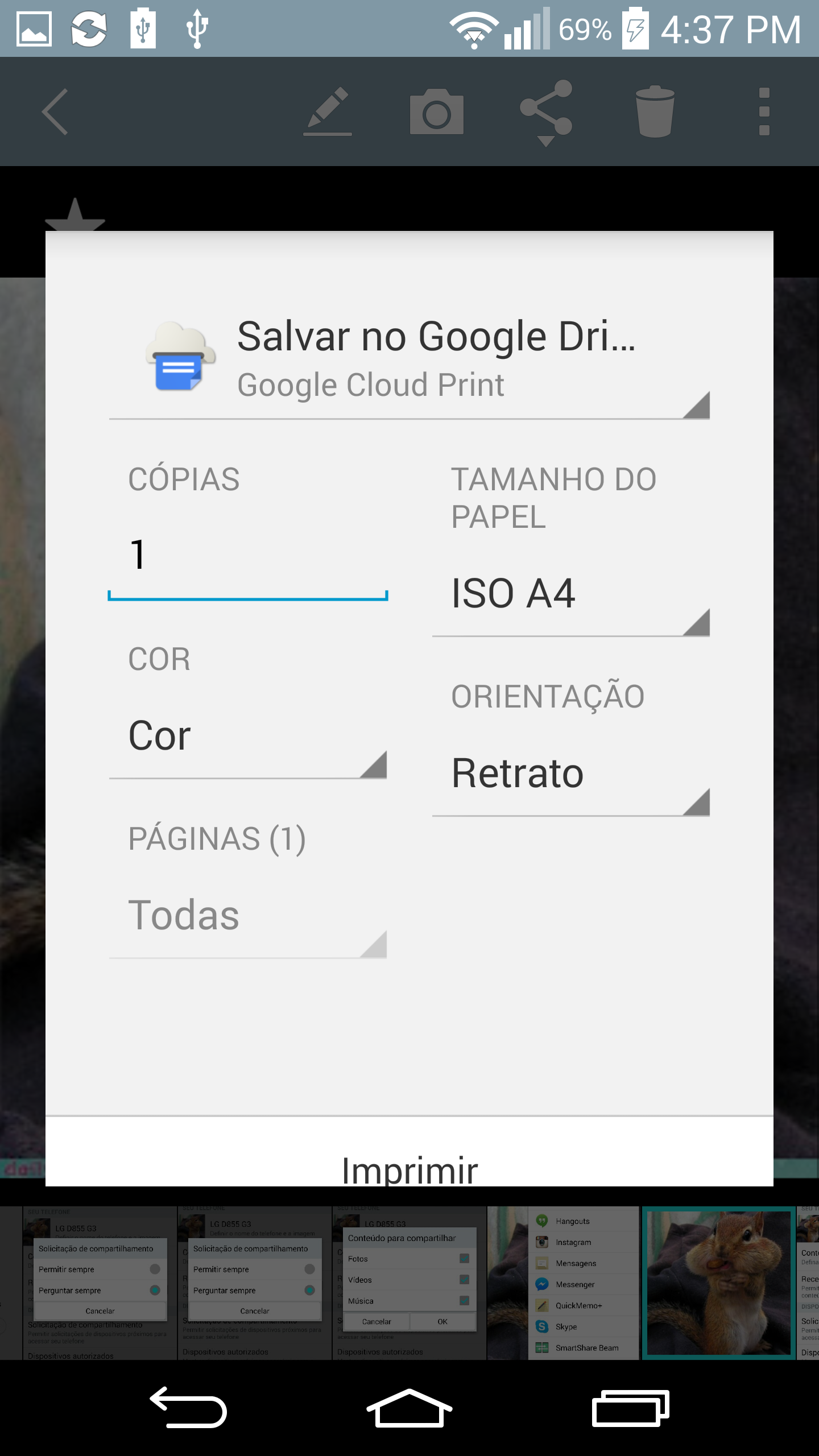 Salvar no Google Drive